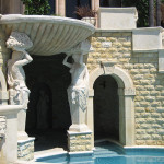 pool statue feature