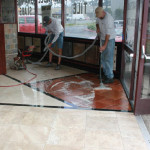 commercial entrance stone honing