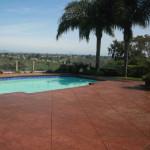flagstone pool area