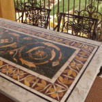 mixed stone table cleaning