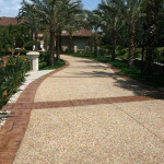 mixed stone driveway cleaning