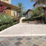 mixed stone driveway