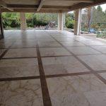 outdoor slate tile floor