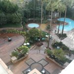 commercial concrete patio and pool area