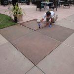 concrete tile patio honing