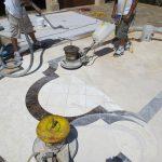 mixed tile foyer